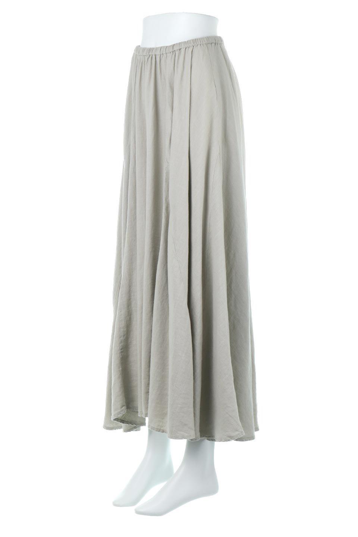 LinenMixLongSummerSkirt麻混・フレアロングスカート大人カジュアルに最適な海外ファッションのothers(その他インポートアイテム)のボトムやスカート。リネンのさらっとした風合いとレーヨンのしなやかさを兼ね備えたロング丈のフレアスカート。リネンとレーヨンをほぼ半々に混ぜ込んだ生地は、程よいハリがありながらもしなやかに落ちて綺麗なシルエットを作ってくれます。/main-6