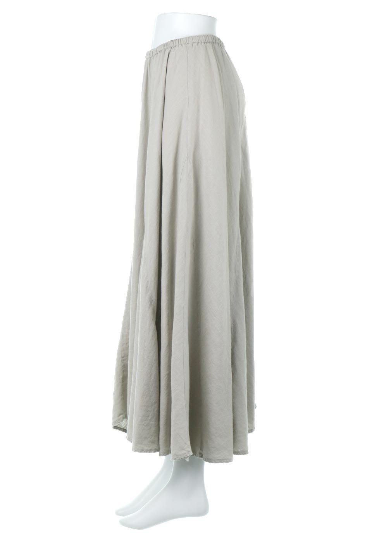 LinenMixLongSummerSkirt麻混・フレアロングスカート大人カジュアルに最適な海外ファッションのothers(その他インポートアイテム)のボトムやスカート。リネンのさらっとした風合いとレーヨンのしなやかさを兼ね備えたロング丈のフレアスカート。リネンとレーヨンをほぼ半々に混ぜ込んだ生地は、程よいハリがありながらもしなやかに落ちて綺麗なシルエットを作ってくれます。/main-7