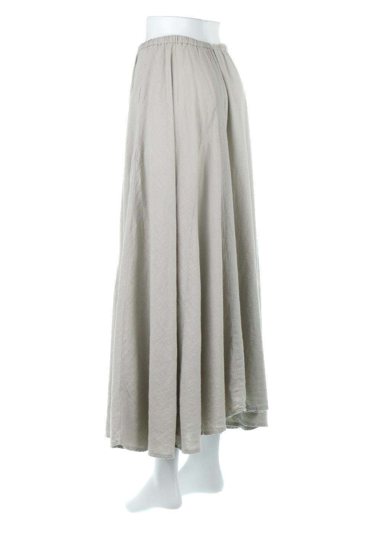LinenMixLongSummerSkirt麻混・フレアロングスカート大人カジュアルに最適な海外ファッションのothers(その他インポートアイテム)のボトムやスカート。リネンのさらっとした風合いとレーヨンのしなやかさを兼ね備えたロング丈のフレアスカート。リネンとレーヨンをほぼ半々に混ぜ込んだ生地は、程よいハリがありながらもしなやかに落ちて綺麗なシルエットを作ってくれます。/main-8