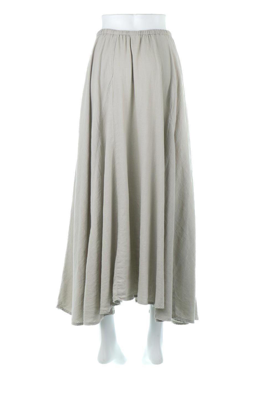 LinenMixLongSummerSkirt麻混・フレアロングスカート大人カジュアルに最適な海外ファッションのothers(その他インポートアイテム)のボトムやスカート。リネンのさらっとした風合いとレーヨンのしなやかさを兼ね備えたロング丈のフレアスカート。リネンとレーヨンをほぼ半々に混ぜ込んだ生地は、程よいハリがありながらもしなやかに落ちて綺麗なシルエットを作ってくれます。/main-9