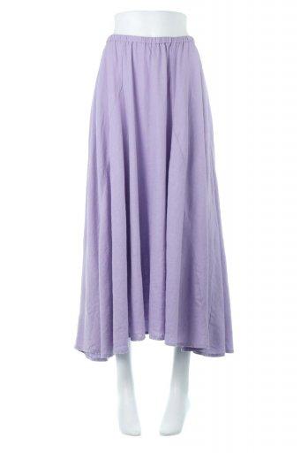 Linen Mix Long Summer Skirt 麻混・フレアロングスカート / 大人カジュアルに最適な海外ファッションが得意な福島市のセレクトショップbloom