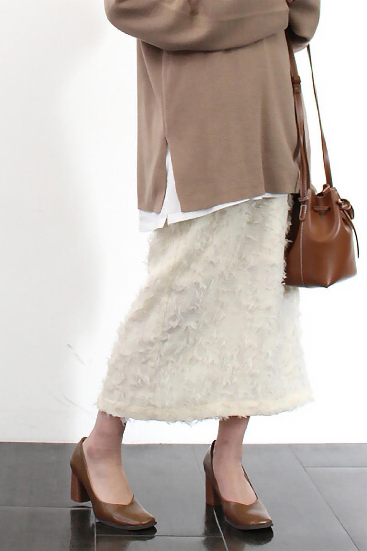 CutJacquardNarrowSkirtカットジャカード・ナロースカート大人カジュアルに最適な海外ファッションのothers(その他インポートアイテム)のボトムやスカート。絶妙な丈の長さとシルエットが特徴のナロースカート。ふさふさシャギーでカジュアル感、柄のジャカード織りで高級感。/main-20