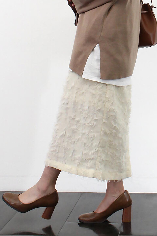 CutJacquardNarrowSkirtカットジャカード・ナロースカート大人カジュアルに最適な海外ファッションのothers(その他インポートアイテム)のボトムやスカート。絶妙な丈の長さとシルエットが特徴のナロースカート。ふさふさシャギーでカジュアル感、柄のジャカード織りで高級感。/main-21