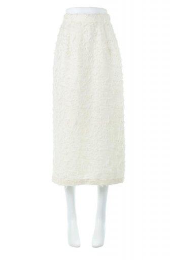 Cut Jacquard Narrow Skirt カットジャカード・ナロースカート / 大人カジュアルに最適な海外ファッションが得意な福島市のセレクトショップbloom