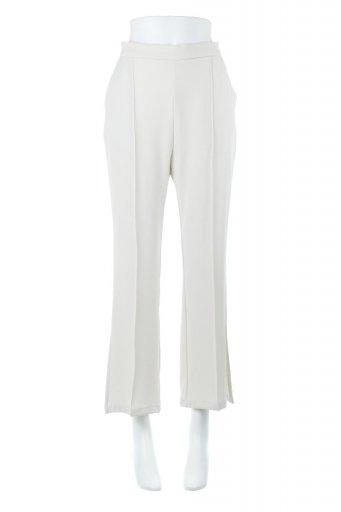 海外ファッションや大人カジュアルに最適なインポートセレクトアイテムのSide Slit Semi Flare Pants サイドスリット・セミフレアパンツ