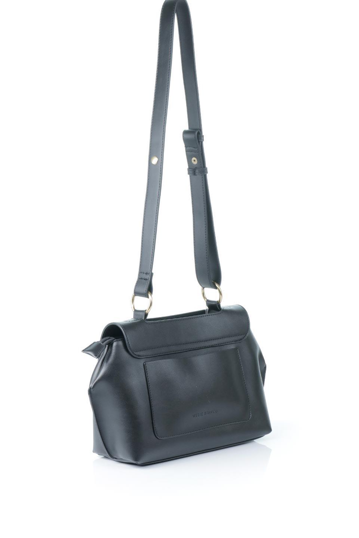 meliebiancoのErica(Black)2ウェイストラップ・ヘキサショルダーバッグ/海外ファッション好きにオススメのインポートバッグとかばん、MelieBianco(メリービアンコ)のバッグやショルダーバッグ。六角形のシルエットが可愛い程よいサイズ感のショルダーバッグ。ストラップはロングとショートの2パターンで楽しめます。/main-3