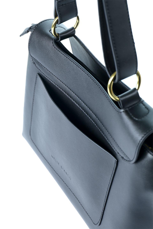 meliebiancoのErica(Black)2ウェイストラップ・ヘキサショルダーバッグ/海外ファッション好きにオススメのインポートバッグとかばん、MelieBianco(メリービアンコ)のバッグやショルダーバッグ。六角形のシルエットが可愛い程よいサイズ感のショルダーバッグ。ストラップはロングとショートの2パターンで楽しめます。/main-8