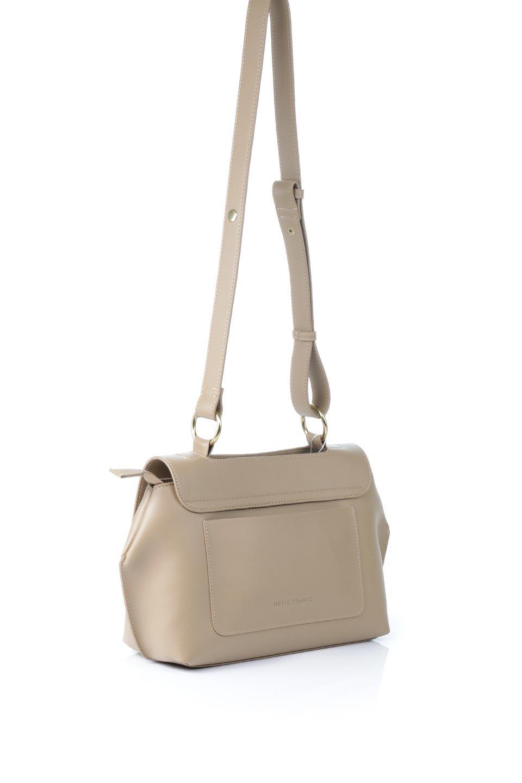 meliebiancoのErica(Tan)2ウェイストラップ・ヘキサショルダーバッグ/海外ファッション好きにオススメのインポートバッグとかばん、MelieBianco(メリービアンコ)のバッグやショルダーバッグ。六角形のシルエットが可愛い程よいサイズ感のショルダーバッグ。ストラップはロングとショートの2パターンで楽しめます。/main-3
