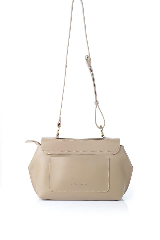 meliebiancoのErica(Tan)2ウェイストラップ・ヘキサショルダーバッグ/海外ファッション好きにオススメのインポートバッグとかばん、MelieBianco(メリービアンコ)のバッグやショルダーバッグ。六角形のシルエットが可愛い程よいサイズ感のショルダーバッグ。ストラップはロングとショートの2パターンで楽しめます。/main-4