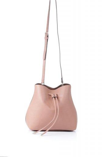 海外ファッションや大人カジュアルのためのインポートバッグ、かばんmelie bianco(メリービアンコ)のLeia (Peach) 巾着タイプ・ショルダーバッグ
