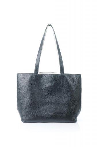 海外ファッションや大人カジュアルのためのインポートバッグ、かばんmelie bianco(メリービアンコ)のDenise (Black) ポーチ付き・リバーシブルトートバッグ
