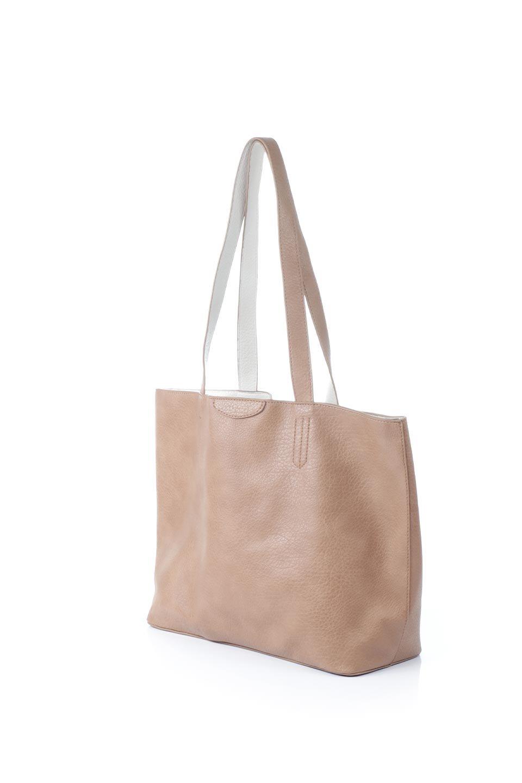 meliebiancoのDenise(Tan)ポーチ付き・リバーシブルトートバッグ/海外ファッション好きにオススメのインポートバッグとかばん、MelieBianco(メリービアンコ)のバッグやトートバッグ。シンプルなキャンバスポーチが付いたシンプルなトートバッグ。ソフトでなめらかなメリービアンコ独自のプレミアムビーガンレザーを使用。/main-1