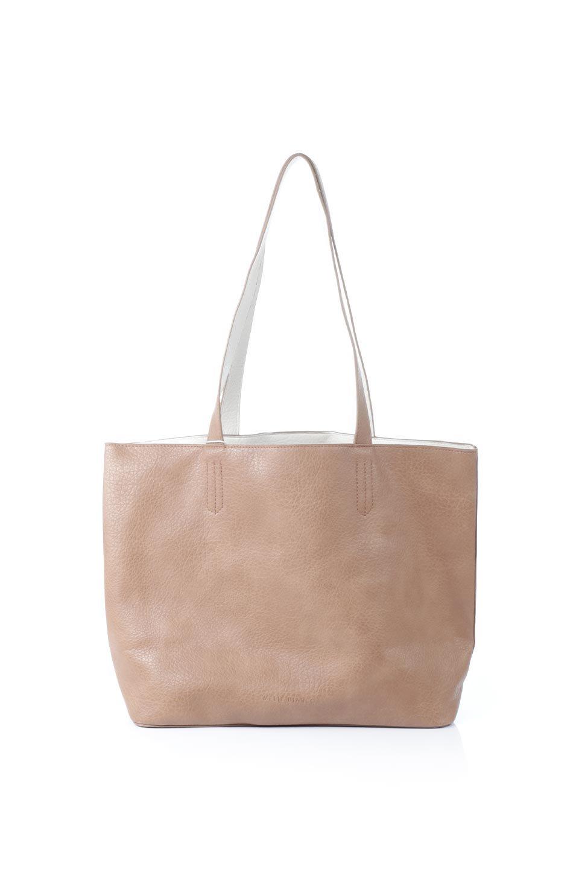 meliebiancoのDenise(Tan)ポーチ付き・リバーシブルトートバッグ/海外ファッション好きにオススメのインポートバッグとかばん、MelieBianco(メリービアンコ)のバッグやトートバッグ。シンプルなキャンバスポーチが付いたシンプルなトートバッグ。ソフトでなめらかなメリービアンコ独自のプレミアムビーガンレザーを使用。/main-4