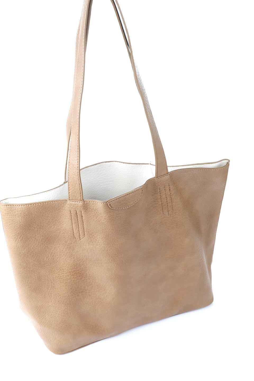 meliebiancoのDenise(Tan)ポーチ付き・リバーシブルトートバッグ/海外ファッション好きにオススメのインポートバッグとかばん、MelieBianco(メリービアンコ)のバッグやトートバッグ。シンプルなキャンバスポーチが付いたシンプルなトートバッグ。ソフトでなめらかなメリービアンコ独自のプレミアムビーガンレザーを使用。/main-7