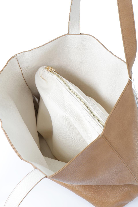 meliebiancoのDenise(Tan)ポーチ付き・リバーシブルトートバッグ/海外ファッション好きにオススメのインポートバッグとかばん、MelieBianco(メリービアンコ)のバッグやトートバッグ。シンプルなキャンバスポーチが付いたシンプルなトートバッグ。ソフトでなめらかなメリービアンコ独自のプレミアムビーガンレザーを使用。/main-8