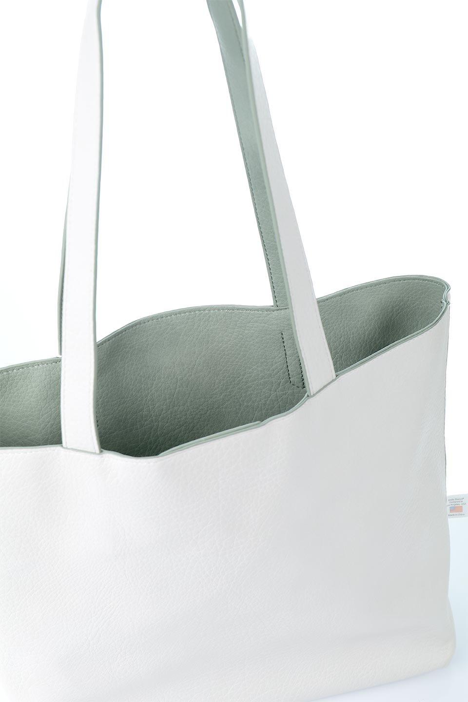 meliebiancoのDenise(Mint)ポーチ付き・リバーシブルトートバッグ/海外ファッション好きにオススメのインポートバッグとかばん、MelieBianco(メリービアンコ)のバッグやトートバッグ。シンプルなキャンバスポーチが付いたシンプルなトートバッグ。ソフトでなめらかなメリービアンコ独自のプレミアムビーガンレザーを使用。/main-16