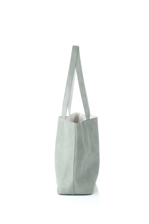 meliebiancoのDenise(Mint)ポーチ付き・リバーシブルトートバッグ/海外ファッション好きにオススメのインポートバッグとかばん、MelieBianco(メリービアンコ)のバッグやトートバッグ。シンプルなキャンバスポーチが付いたシンプルなトートバッグ。ソフトでなめらかなメリービアンコ独自のプレミアムビーガンレザーを使用。/main-2