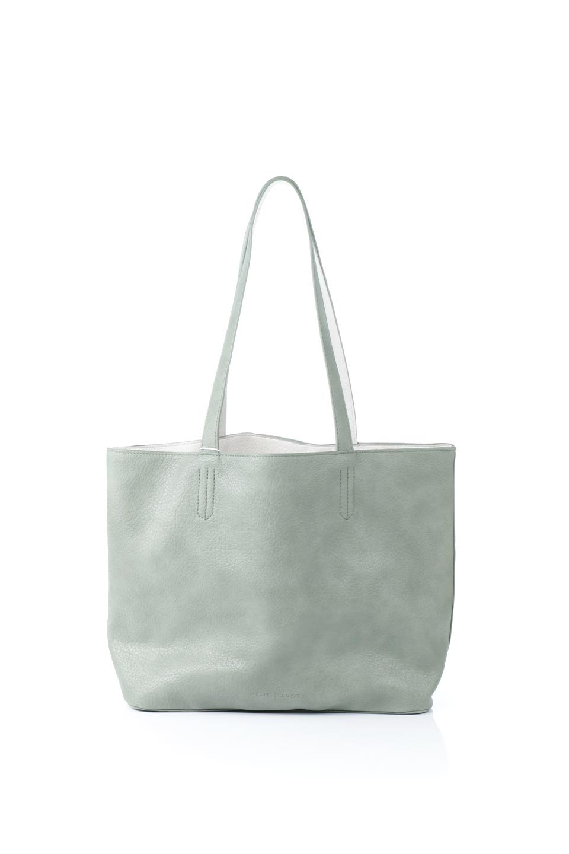 meliebiancoのDenise(Mint)ポーチ付き・リバーシブルトートバッグ/海外ファッション好きにオススメのインポートバッグとかばん、MelieBianco(メリービアンコ)のバッグやトートバッグ。シンプルなキャンバスポーチが付いたシンプルなトートバッグ。ソフトでなめらかなメリービアンコ独自のプレミアムビーガンレザーを使用。/main-4