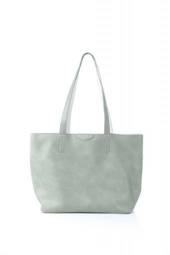 海外ファッションや大人カジュアルのためのインポートバッグ、かばんmelie bianco(メリービアンコ)のDenise (Mint) ポーチ付き・リバーシブルトートバッグ