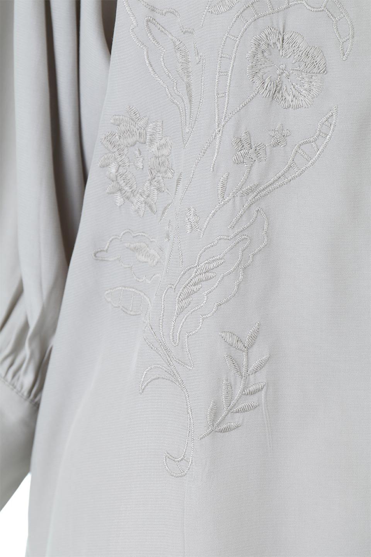 EmbroideredSatinBlouse刺繍入り・サテンブラウス大人カジュアルに最適な海外ファッションのothers(その他インポートアイテム)のトップスやシャツ・ブラウス。胸元のさりげない刺繍が可愛い7分袖のサテンブラウス。センターはしごレースを挟んでいるので高見えするアイテムです。/main-14