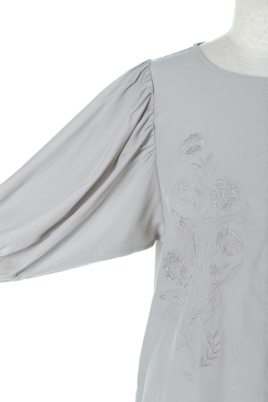 EmbroideredSatinBlouse刺繍入り・サテンブラウス大人カジュアルに最適な海外ファッションのothers(その他インポートアイテム)のトップスやシャツ・ブラウス。胸元のさりげない刺繍が可愛い7分袖のサテンブラウス。センターはしごレースを挟んでいるので高見えするアイテムです。/main-15
