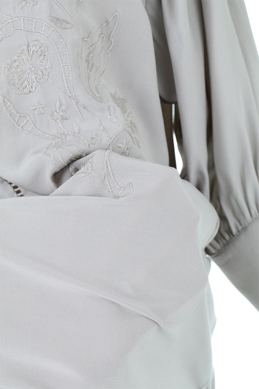 EmbroideredSatinBlouse刺繍入り・サテンブラウス大人カジュアルに最適な海外ファッションのothers(その他インポートアイテム)のトップスやシャツ・ブラウス。胸元のさりげない刺繍が可愛い7分袖のサテンブラウス。センターはしごレースを挟んでいるので高見えするアイテムです。/main-18