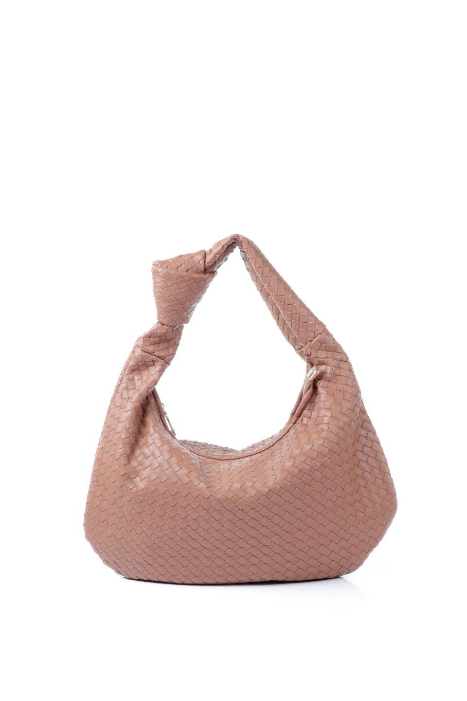 meliebiancoのBrigitte(Saddle)ウーヴンホーボーバッグ/海外ファッション好きにオススメのインポートバッグとかばん、MelieBianco(メリービアンコ)のバッグやショルダーバッグ。バターのようになめらかな手触りのビーガンレザーを使用した編み込みのホーボーバッグ。ソフトなマテリアルなので肩に掛けたときの「しっくり感」は最高です。