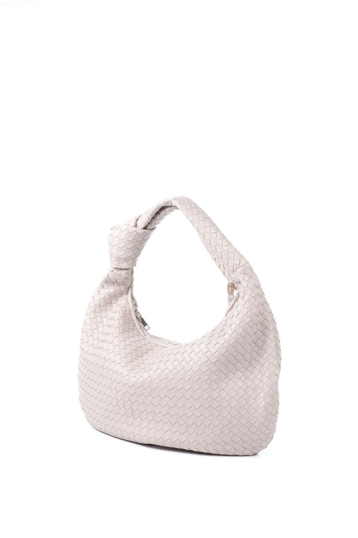 meliebiancoのBrigitte(Nude)ウーヴンホーボーバッグ/海外ファッション好きにオススメのインポートバッグとかばん、MelieBianco(メリービアンコ)のバッグやショルダーバッグ。バターのようになめらかな手触りのビーガンレザーを使用した編み込みのホーボーバッグ。ソフトなマテリアルなので肩に掛けたときの「しっくり感」は最高です。/main-1