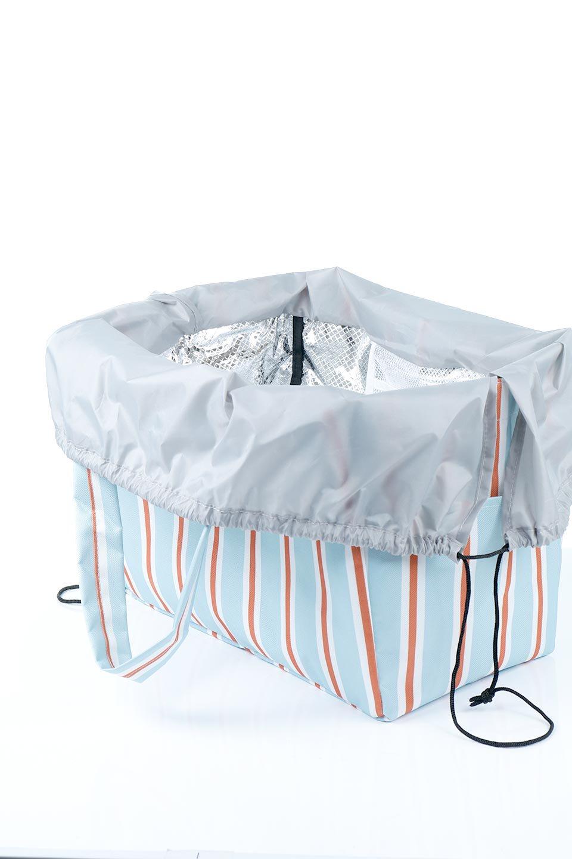 FoldingShoppingCoolerBasket(StripeIceBlue)保冷保温・折りたたみレジカゴエコバッグ(ストライプ・アイスブルー)大人カジュアルに最適な海外ファッションのothers(その他インポートアイテム)のバッグやその他。レジカゴにジャストフィットの折りたたみエコバッグ。保温、保冷効果を高めるアルミ加工で、両サイドのポケットは保冷剤を入れて更に保冷効果を高めることができます。/main-12