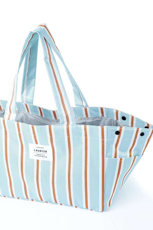 FoldingShoppingCoolerBasket(StripeIceBlue)保冷保温・折りたたみレジカゴエコバッグ(ストライプ・アイスブルー)大人カジュアルに最適な海外ファッションのothers(その他インポートアイテム)のバッグやその他。レジカゴにジャストフィットの折りたたみエコバッグ。保温、保冷効果を高めるアルミ加工で、両サイドのポケットは保冷剤を入れて更に保冷効果を高めることができます。/main-8
