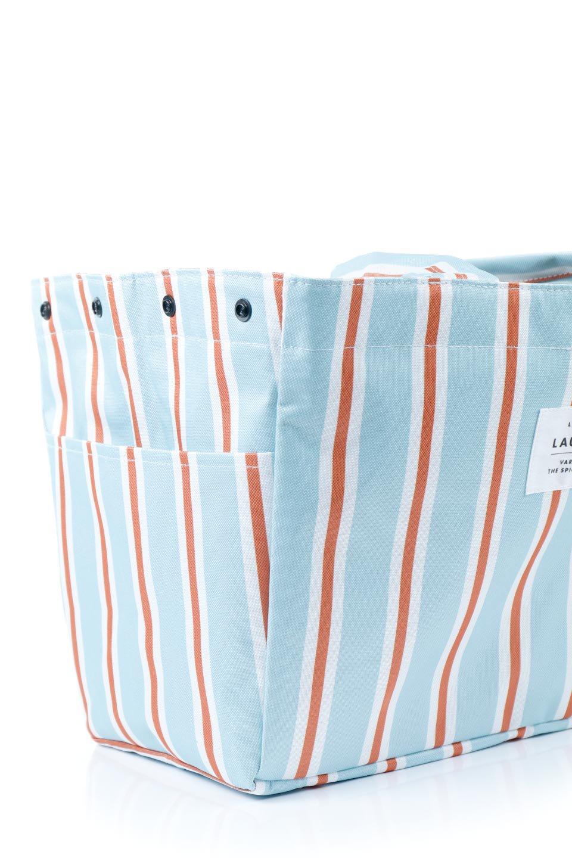FoldingShoppingCoolerBasket(StripeIceBlue)保冷保温・折りたたみレジカゴエコバッグ(ストライプ・アイスブルー)大人カジュアルに最適な海外ファッションのothers(その他インポートアイテム)のバッグやその他。レジカゴにジャストフィットの折りたたみエコバッグ。保温、保冷効果を高めるアルミ加工で、両サイドのポケットは保冷剤を入れて更に保冷効果を高めることができます。/main-9