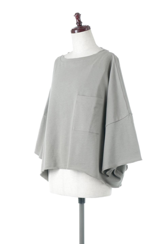 CutOffHalfSleeveBigTeeカットオフ加工・ショート丈トップス大人カジュアルに最適な海外ファッションのothers(その他インポートアイテム)のトップスやカットソー。ルーズなシルエットが魅力の5分袖カットソー。ショート丈でワイドなボックスデザインはTシャツ感覚で着るだけでこなれた雰囲気になります。/main-1