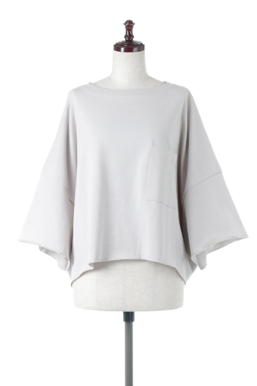 CutOffHalfSleeveBigTeeカットオフ加工・ショート丈トップス大人カジュアルに最適な海外ファッションのothers(その他インポートアイテム)のトップスやカットソー。ルーズなシルエットが魅力の5分袖カットソー。ショート丈でワイドなボックスデザインはTシャツ感覚で着るだけでこなれた雰囲気になります。/main-10