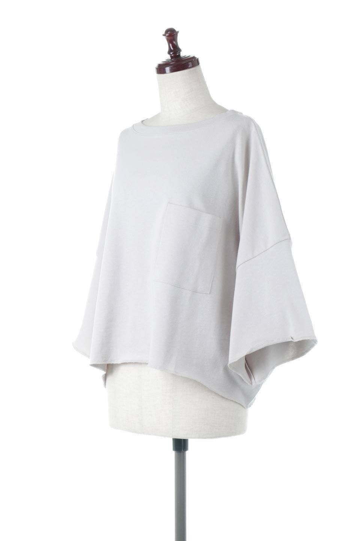 CutOffHalfSleeveBigTeeカットオフ加工・ショート丈トップス大人カジュアルに最適な海外ファッションのothers(その他インポートアイテム)のトップスやカットソー。ルーズなシルエットが魅力の5分袖カットソー。ショート丈でワイドなボックスデザインはTシャツ感覚で着るだけでこなれた雰囲気になります。/main-11