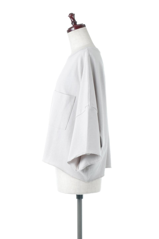 CutOffHalfSleeveBigTeeカットオフ加工・ショート丈トップス大人カジュアルに最適な海外ファッションのothers(その他インポートアイテム)のトップスやカットソー。ルーズなシルエットが魅力の5分袖カットソー。ショート丈でワイドなボックスデザインはTシャツ感覚で着るだけでこなれた雰囲気になります。/main-12