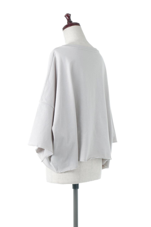 CutOffHalfSleeveBigTeeカットオフ加工・ショート丈トップス大人カジュアルに最適な海外ファッションのothers(その他インポートアイテム)のトップスやカットソー。ルーズなシルエットが魅力の5分袖カットソー。ショート丈でワイドなボックスデザインはTシャツ感覚で着るだけでこなれた雰囲気になります。/main-13