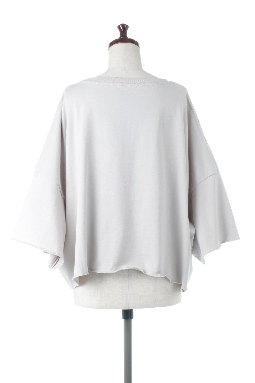 CutOffHalfSleeveBigTeeカットオフ加工・ショート丈トップス大人カジュアルに最適な海外ファッションのothers(その他インポートアイテム)のトップスやカットソー。ルーズなシルエットが魅力の5分袖カットソー。ショート丈でワイドなボックスデザインはTシャツ感覚で着るだけでこなれた雰囲気になります。/main-14