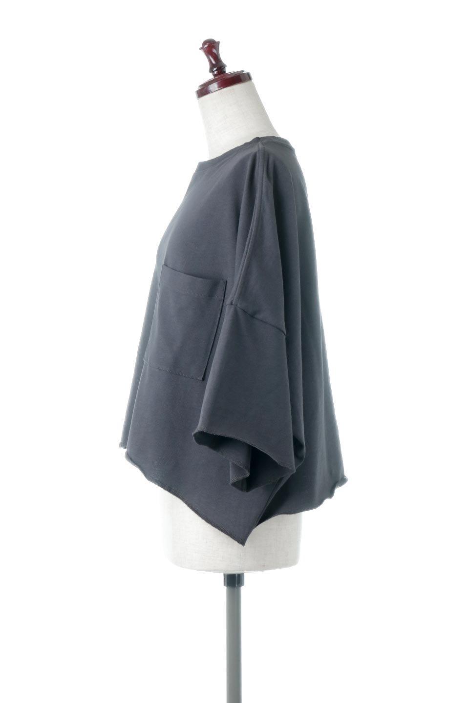 CutOffHalfSleeveBigTeeカットオフ加工・ショート丈トップス大人カジュアルに最適な海外ファッションのothers(その他インポートアイテム)のトップスやカットソー。ルーズなシルエットが魅力の5分袖カットソー。ショート丈でワイドなボックスデザインはTシャツ感覚で着るだけでこなれた雰囲気になります。/main-17