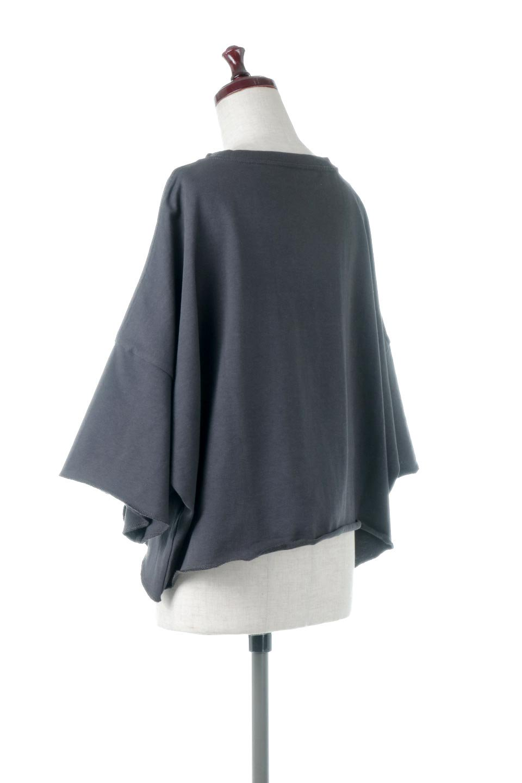 CutOffHalfSleeveBigTeeカットオフ加工・ショート丈トップス大人カジュアルに最適な海外ファッションのothers(その他インポートアイテム)のトップスやカットソー。ルーズなシルエットが魅力の5分袖カットソー。ショート丈でワイドなボックスデザインはTシャツ感覚で着るだけでこなれた雰囲気になります。/main-18