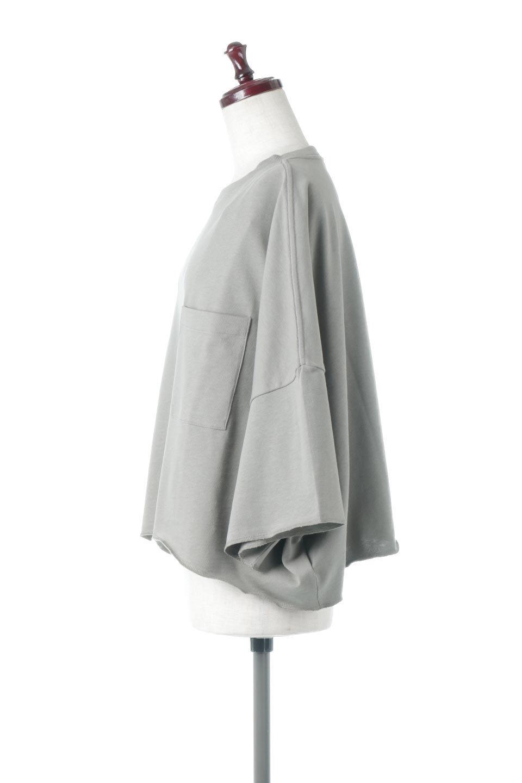 CutOffHalfSleeveBigTeeカットオフ加工・ショート丈トップス大人カジュアルに最適な海外ファッションのothers(その他インポートアイテム)のトップスやカットソー。ルーズなシルエットが魅力の5分袖カットソー。ショート丈でワイドなボックスデザインはTシャツ感覚で着るだけでこなれた雰囲気になります。/main-2