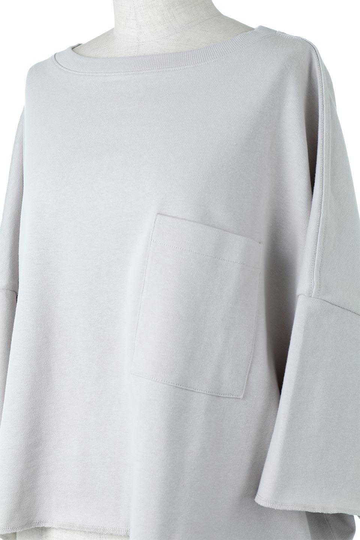CutOffHalfSleeveBigTeeカットオフ加工・ショート丈トップス大人カジュアルに最適な海外ファッションのothers(その他インポートアイテム)のトップスやカットソー。ルーズなシルエットが魅力の5分袖カットソー。ショート丈でワイドなボックスデザインはTシャツ感覚で着るだけでこなれた雰囲気になります。/main-22