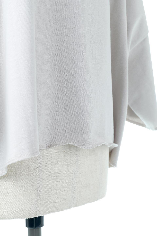 CutOffHalfSleeveBigTeeカットオフ加工・ショート丈トップス大人カジュアルに最適な海外ファッションのothers(その他インポートアイテム)のトップスやカットソー。ルーズなシルエットが魅力の5分袖カットソー。ショート丈でワイドなボックスデザインはTシャツ感覚で着るだけでこなれた雰囲気になります。/main-25