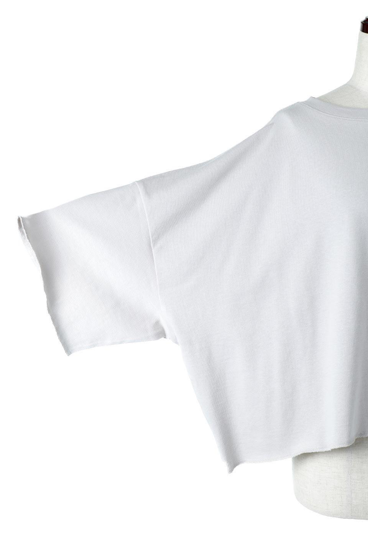CutOffHalfSleeveBigTeeカットオフ加工・ショート丈トップス大人カジュアルに最適な海外ファッションのothers(その他インポートアイテム)のトップスやカットソー。ルーズなシルエットが魅力の5分袖カットソー。ショート丈でワイドなボックスデザインはTシャツ感覚で着るだけでこなれた雰囲気になります。/main-27