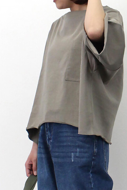 CutOffHalfSleeveBigTeeカットオフ加工・ショート丈トップス大人カジュアルに最適な海外ファッションのothers(その他インポートアイテム)のトップスやカットソー。ルーズなシルエットが魅力の5分袖カットソー。ショート丈でワイドなボックスデザインはTシャツ感覚で着るだけでこなれた雰囲気になります。/main-31