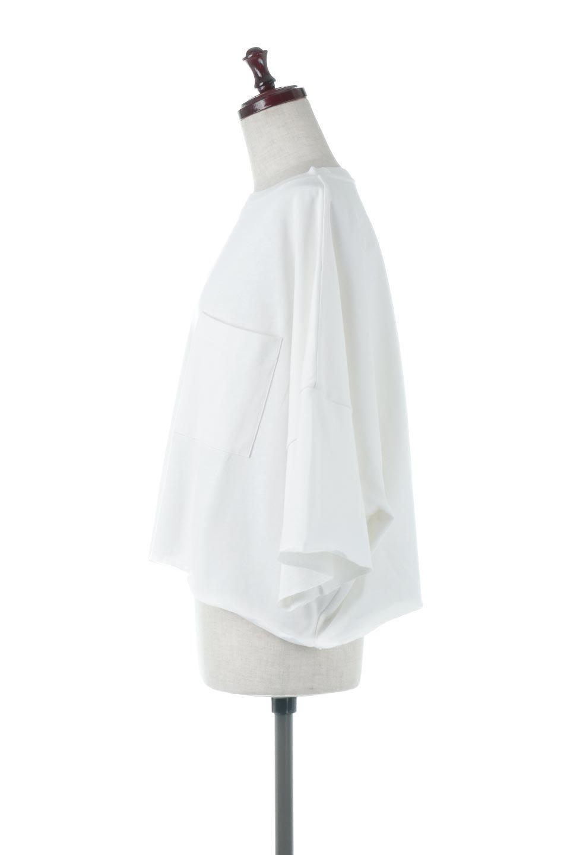 CutOffHalfSleeveBigTeeカットオフ加工・ショート丈トップス大人カジュアルに最適な海外ファッションのothers(その他インポートアイテム)のトップスやカットソー。ルーズなシルエットが魅力の5分袖カットソー。ショート丈でワイドなボックスデザインはTシャツ感覚で着るだけでこなれた雰囲気になります。/main-7