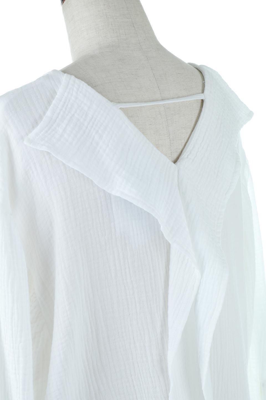 FrilledBackDoubleGauzeBlouseバックフリル・ダブルガーゼブラウス大人カジュアルに最適な海外ファッションのothers(その他インポートアイテム)のトップスやシャツ・ブラウス。フェミニンに決まるバックフリルがポイントのブラウス。綿100%のダブルガーゼの素材を使用してるのでとても柔らかく着心地も◎。/main-13
