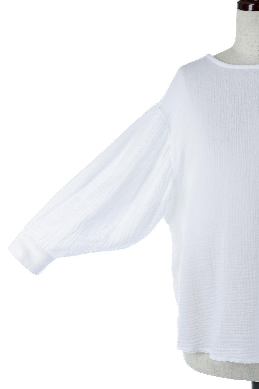 FrilledBackDoubleGauzeBlouseバックフリル・ダブルガーゼブラウス大人カジュアルに最適な海外ファッションのothers(その他インポートアイテム)のトップスやシャツ・ブラウス。フェミニンに決まるバックフリルがポイントのブラウス。綿100%のダブルガーゼの素材を使用してるのでとても柔らかく着心地も◎。/main-14