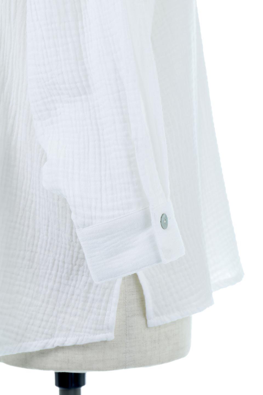 FrilledBackDoubleGauzeBlouseバックフリル・ダブルガーゼブラウス大人カジュアルに最適な海外ファッションのothers(その他インポートアイテム)のトップスやシャツ・ブラウス。フェミニンに決まるバックフリルがポイントのブラウス。綿100%のダブルガーゼの素材を使用してるのでとても柔らかく着心地も◎。/main-16