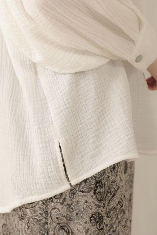 FrilledBackDoubleGauzeBlouseバックフリル・ダブルガーゼブラウス大人カジュアルに最適な海外ファッションのothers(その他インポートアイテム)のトップスやシャツ・ブラウス。フェミニンに決まるバックフリルがポイントのブラウス。綿100%のダブルガーゼの素材を使用してるのでとても柔らかく着心地も◎。/main-25