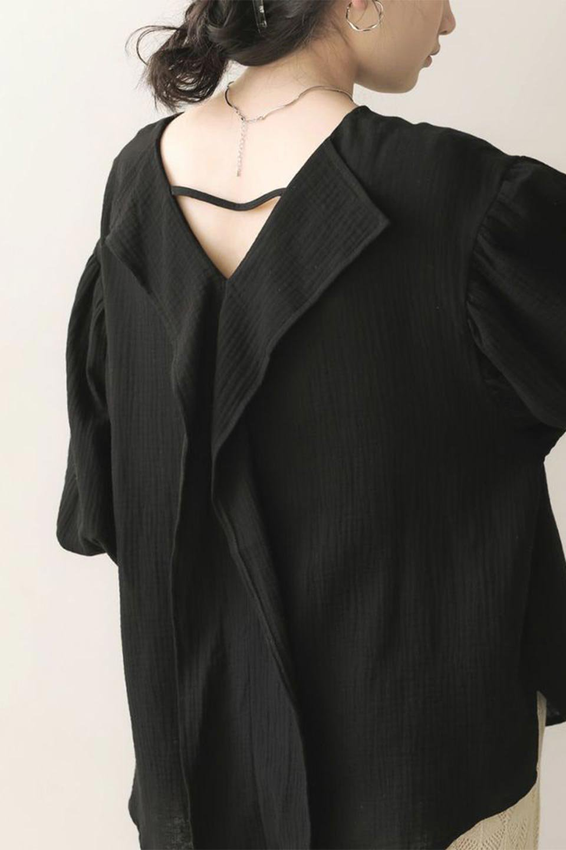 FrilledBackDoubleGauzeBlouseバックフリル・ダブルガーゼブラウス大人カジュアルに最適な海外ファッションのothers(その他インポートアイテム)のトップスやシャツ・ブラウス。フェミニンに決まるバックフリルがポイントのブラウス。綿100%のダブルガーゼの素材を使用してるのでとても柔らかく着心地も◎。/main-27